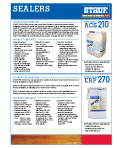 Graphic: Sell Sheet for Sub Floor Sealers ACS-210 and ERP-270